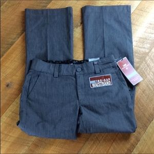 Lee Platinum trousers Size 6 Short Gray New